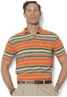 Polo Ralph Lauren Big & Tall Classic-Fit Short-Sleeved Multi-Striped Mesh Polo