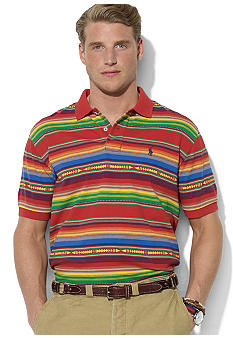 Polo Ralph Lauren Classic-Fit Jacquard Multi-Striped Mesh Polo