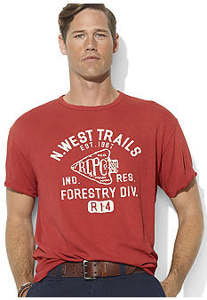 Polo Ralph Lauren Big & Tall Classic-Fit Short-Sleeved Graphic Hiking T-Shirt