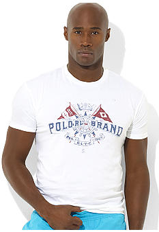 Polo Ralph Lauren Big & Tall Classic-Fit Short-Sleeved Cotton Flag Crewneck T-Shirt