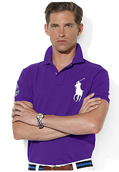 Polo Ralph Lauren Wimbledon Custom-Fit Big Pony Mesh Polo