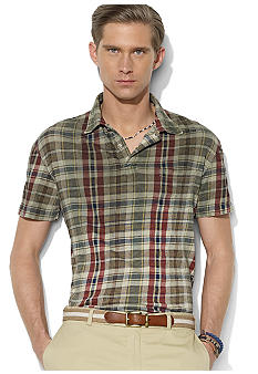 Polo Ralph Lauren Short-Sleeved Plaid Gauze Jersey Polo
