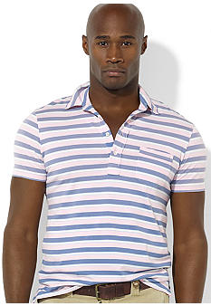 Polo Ralph Lauren Big & Tall Short-Sleeved Striped Knit Jersey Polo