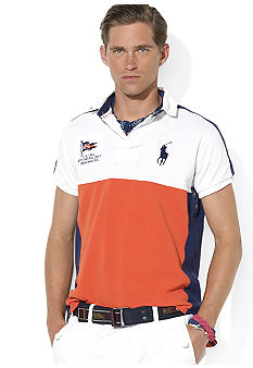 Polo Ralph Lauren Custom-Fit Color-Blocked Coastal Rescue Polo