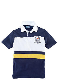 Polo Ralph Lauren Big & Tall Classic-Fit Short-Sleeved Rescue Patrol Striped Rugby