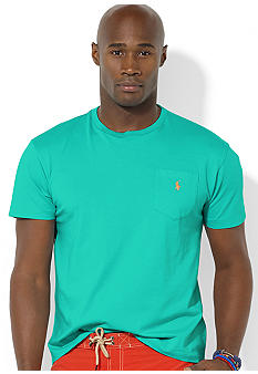 Polo Ralph Lauren Big & Tall Classic-Fit Short-Sleeved Cotton Jersey Pocket Crewneck