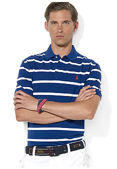 Polo Ralph Lauren Classic-Fit Striped Mesh Polo
