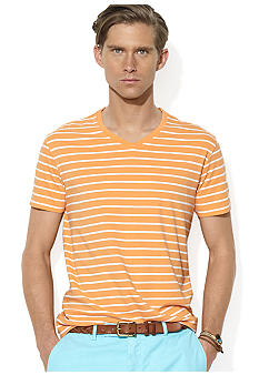 Polo Ralph Lauren Medium-Fit Striped Jersey V-Neck T-Shirt