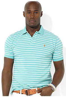 Polo Ralph Lauren Big & Tall Classic-Fit Short-Sleeved Striped Mesh Polo