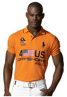 Polo Ralph Lauren RLX US-Themed Offshore Racing Mesh Polo