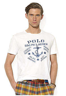 Polo Ralph Lauren Big & Tall Classic-Fit Short-Sleeved Nautical-Print T-Shirt