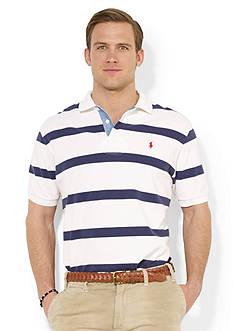 Polo Ralph Lauren Custom-Fit Striped Mesh Polo Shirt