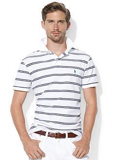 Polo Ralph Lauren Custom-Fit Striped Stretch-Mesh Polo Shirt