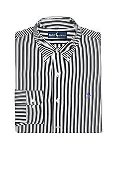 Polo Ralph Lauren Custom-Fit Striped Poplin Dress Shirt