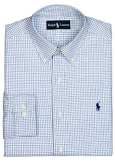 Polo Ralph Lauren Custom-Fit Gingham Estate Poplin Dress Shirt