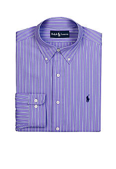 Polo Ralph Lauren Classic-Fit Poplin Multi-Stripe Dress Shirt