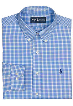 Polo Ralph Lauren Classic-Fit Tattersall Poplin Dress Shirt