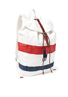 Polo Ralph Lauren Striped Canvas Backpack