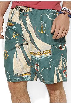 Polo Ralph Lauren Shelter Island Sailboat-Print Swim Trunk