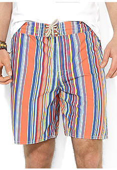 Polo Ralph Lauren Canvas Striped Sanibel Swim Trunks