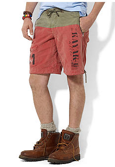 Polo Ralph Lauren Canvas Color-Blocked Bali Swim Trunks