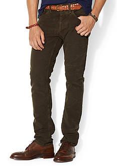 Polo Ralph Lauren Varick Slim-Fit 5-Pocket Moleskin Pants<br>