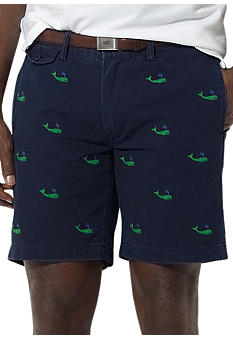 Polo Ralph Lauren Big & Tall Classic Officer's Embroidered Chino Shorts