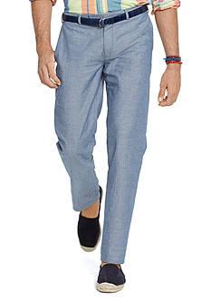 Polo Ralph Lauren Straight-Fit Hudson Chambray Pants