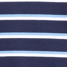 Mens Short Sleeve Polo Shirts: French Navy Polo Ralph Lauren SS PIMA STRIPE ARUBA PINK/WHITE
