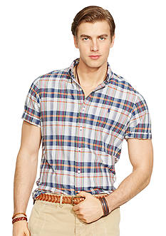 Polo Ralph Lauren Short-Sleeved Madras Shirt