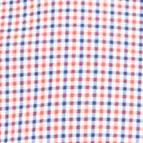 Mens Designer Shirts: Red Tattersall Polo Ralph Lauren SS POPLIN 202A RED TATTERSALL