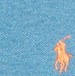 Mens Short Sleeve Polo Shirts: Marine Heather Polo Ralph Lauren Custom-Fit Mesh Polo Shirt