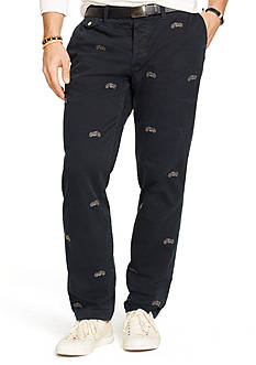 Polo Ralph Lauren Straight-Fit Embroidered Chino Pants
