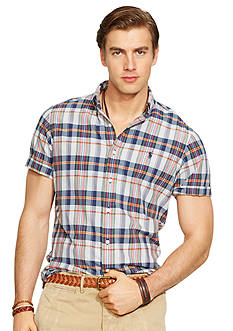 Polo Ralph Lauren Slim-Fit Short-Sleeve Madras Shirt