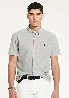 Polo Ralph Lauren Short-Sleeve Striped Seersucker Shirt