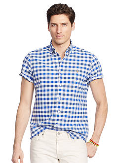 Polo Ralph Lauren Short-Sleeve Gingham Oxford Shirt