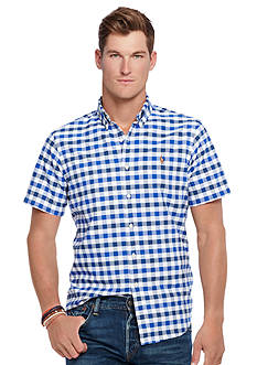 Polo Ralph Lauren Short-Sleeve Checked Oxford Shirt