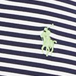 St Patricks Day Outfits For Men: Pure White/ French Navy Polo Ralph Lauren Striped Performance Polo Shirt