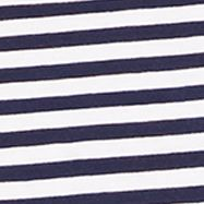 Plain and Striped T-shirts for Men: French Navy Polo Ralph Lauren SS STR TEE GREEN/WHITE