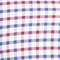 Mens Designer Casual Shirts: Wine/Royal Polo Ralph Lauren OXFORD CHECK 358B STEEL BLUE/ROYAL
