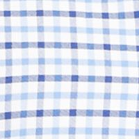 Mens Designer Casual Shirts: Steel Blue/Royal Polo Ralph Lauren OXFORD CHECK 358B STEEL BLUE/ROYAL