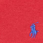 Mens Designer Polo Shirts: Avenue Red Polo Ralph Lauren LS MESH C&S AVENUE RED
