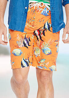 Polo Ralph Lauren Angelfish-Print Shelter Island Swim Trunk