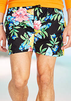 Polo Ralph Lauren Floral-Print Traveler Swim Short