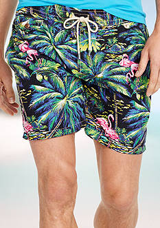 Polo Ralph Lauren Flamingo-Print Traveler Swim Short