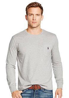 Polo Ralph Lauren Long-Sleeved Jersey Pocket Crewneck