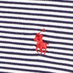 Young Men: Polo Ralph Lauren Polo Shirts: Navy/White Polo Ralph Lauren FTHR MESH NAVY/WHITE STR