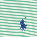 Young Men: Polo Ralph Lauren Polo Shirts: Flag Green/White Polo Ralph Lauren FTHR MESH NAVY/WHITE STR