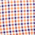 Men: Polo Ralph Lauren Casual Shirts: Royal/Orange Polo Ralph Lauren POPLIN CHECK 584C ROYAL/ORANGE