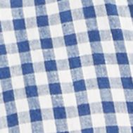 Mens Designer Shirts: Blue/White Polo Ralph Lauren LS LINEN 672A BLUE/WHITE CHECK